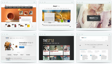 6 examples of website styles - click to go to main websites page